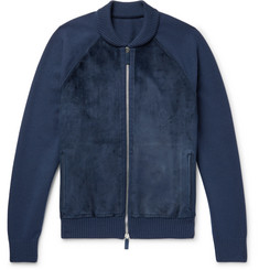 Berluti Suede, Cashmere and Wool-Blend Zip-Up Cardigan
