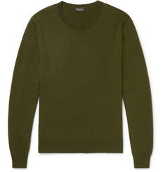 Berluti - Leather-Trimmed Cashmere Sweater