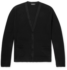 Berluti Silk-Trimmed Wool Cardigan
