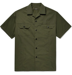 Berluti - Camp-Collar Cotton and Mulberry Silk-Blend Shirt