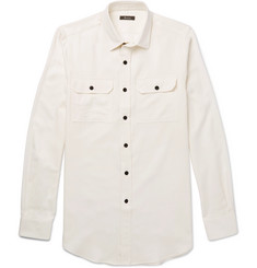 Berluti Cotton and Cashmere-Blend Twill Shirt