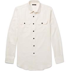 Berluti Cotton and Cashmere-Blend Twill Shirt