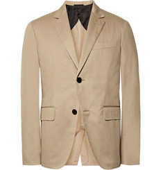 Berluti Beige Slim-Fit Stretch-Cotton Gabardine Suit Jacket