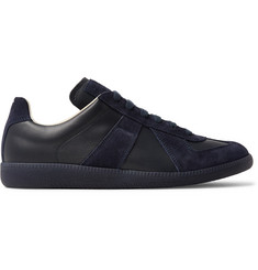 Maison Margiela Replica Suede and Leather Sneakers