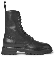 Maison Margiela Leather Combat Boots