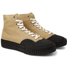 Maison Margiela - Rubber-Trimmed Cotton-Canvas High-Top Sneakers