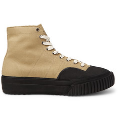 Maison Margiela Rubber-Trimmed Cotton-Canvas High-Top Sneakers