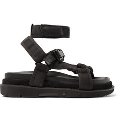 Maison Margiela Leather and Suede-Trimmed Nylon Sandals