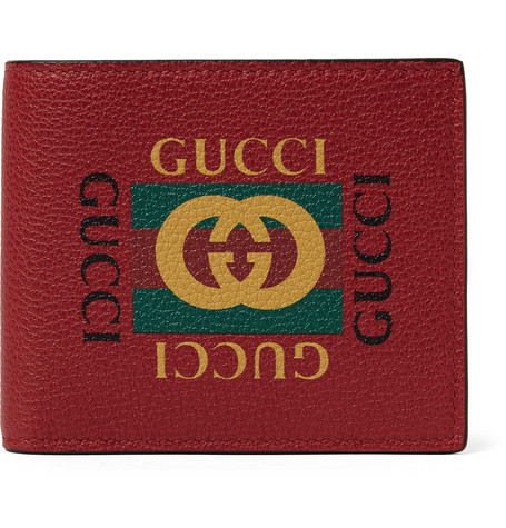 9c1cd62c716 Gucci - Printed Full-Grain Leather Billfold Wallet