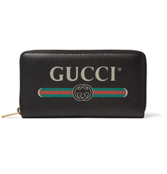 Gucci Printed Full-Grain Leather Zip-Around Wallet