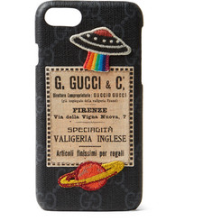 Gucci Appliquéd Monogrammed Coated-Canvas iPhone 7 Case