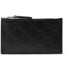 Gucci - Embossed Leather Zipped Cardholder