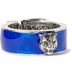 Gucci - Enamelled Sterling Silver Ring