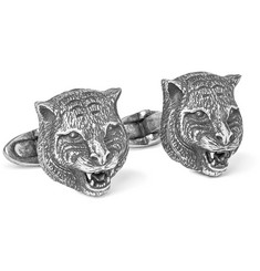 Gucci Burnished Sterling Silver Cufflinks