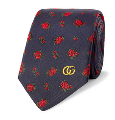 Gucci 7.5cm Embroidered Silk-Faille Tie