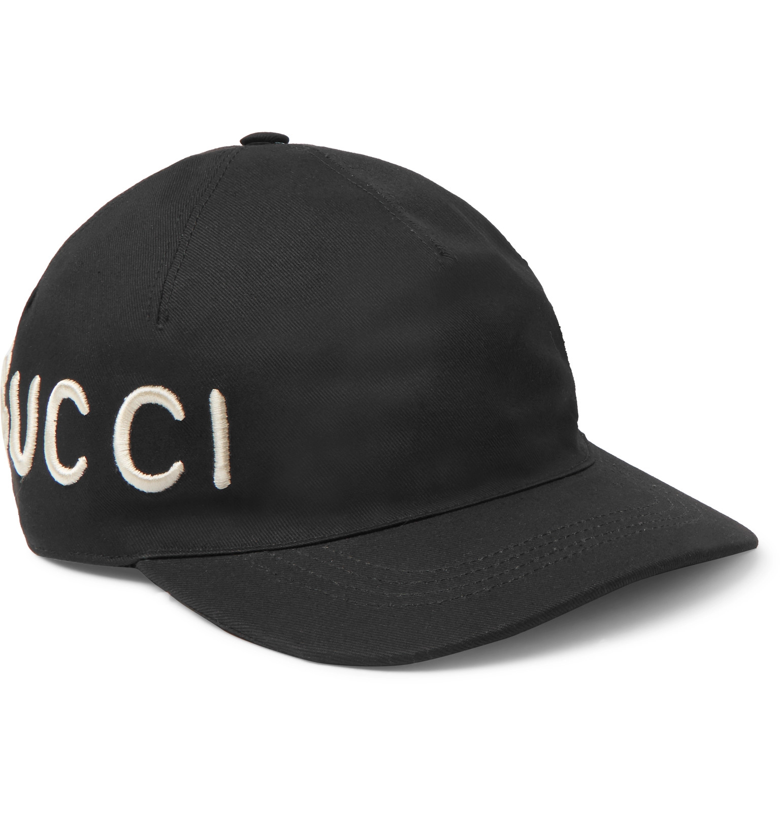Gucci - Embroidered Cotton-Twill Baseball Cap abd093ba672