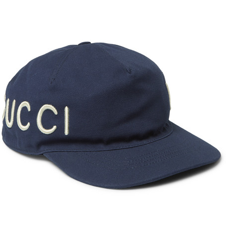 Gucci - Embroidered Cotton-Twill Baseball Cap 5677c6f3284
