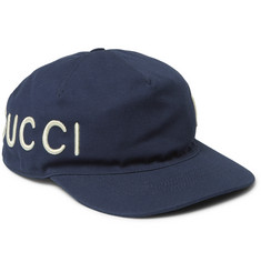 Gucci Embroidered Cotton-Twill Baseball Cap