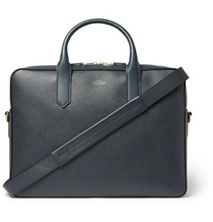 Smythson - Panama Cross-Grain Leather Briefcase