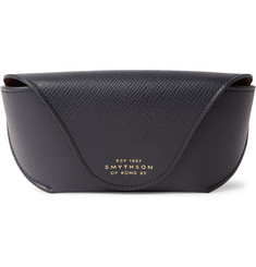 Smythson Panama Cross-Grain Leather Sunglasses Case