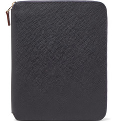 Smythson - Panama A5 Cross-Grain Leather Writing Folder