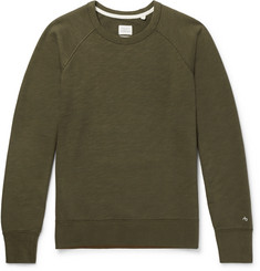 rag & bone Standard Issue Loopback Cotton-Jersey Sweatshirt