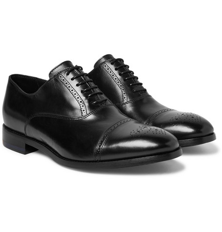 Berty Leather Oxford Brogues - Black
