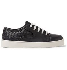 Bottega Veneta Dodger Intrecciato-Panelled Leather Sneakers
