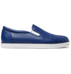 Bottega Veneta Intrecciato-Panelled Leather Slip-On Sneakers