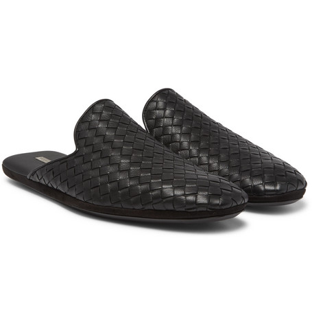 Intrecciato leather slippers Bottega Veneta