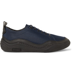 Lanvin Leather-Trimmed Mesh Sneakers