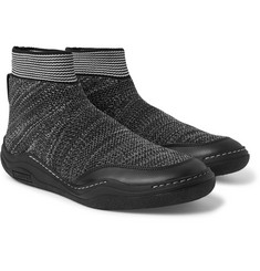 Lanvin - Stretch-Knit High-Top Sneakers