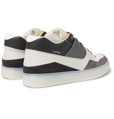 Cap-toe Nubuck And Rubberised-leather Sneakers - IvoryLanvin FdWExkMUW