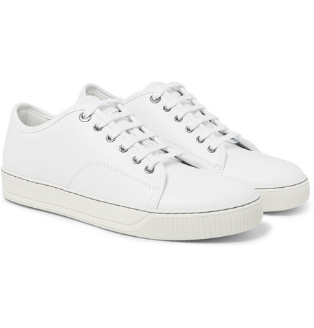 Cap-toe Leather Sneakers - White