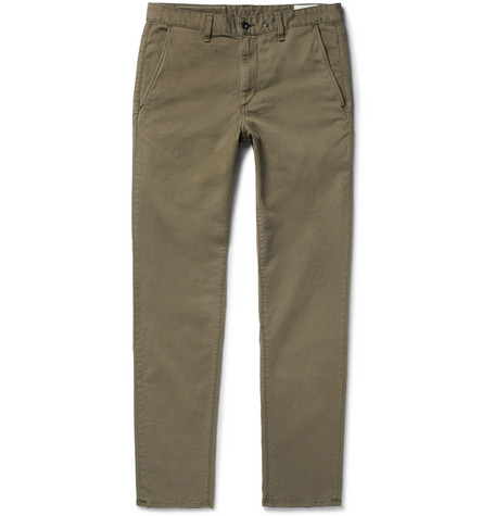 Fit 2 Slim-fit Garment-dyed Stretch-cotton Twill Chinos Rag & Bone WwaZr