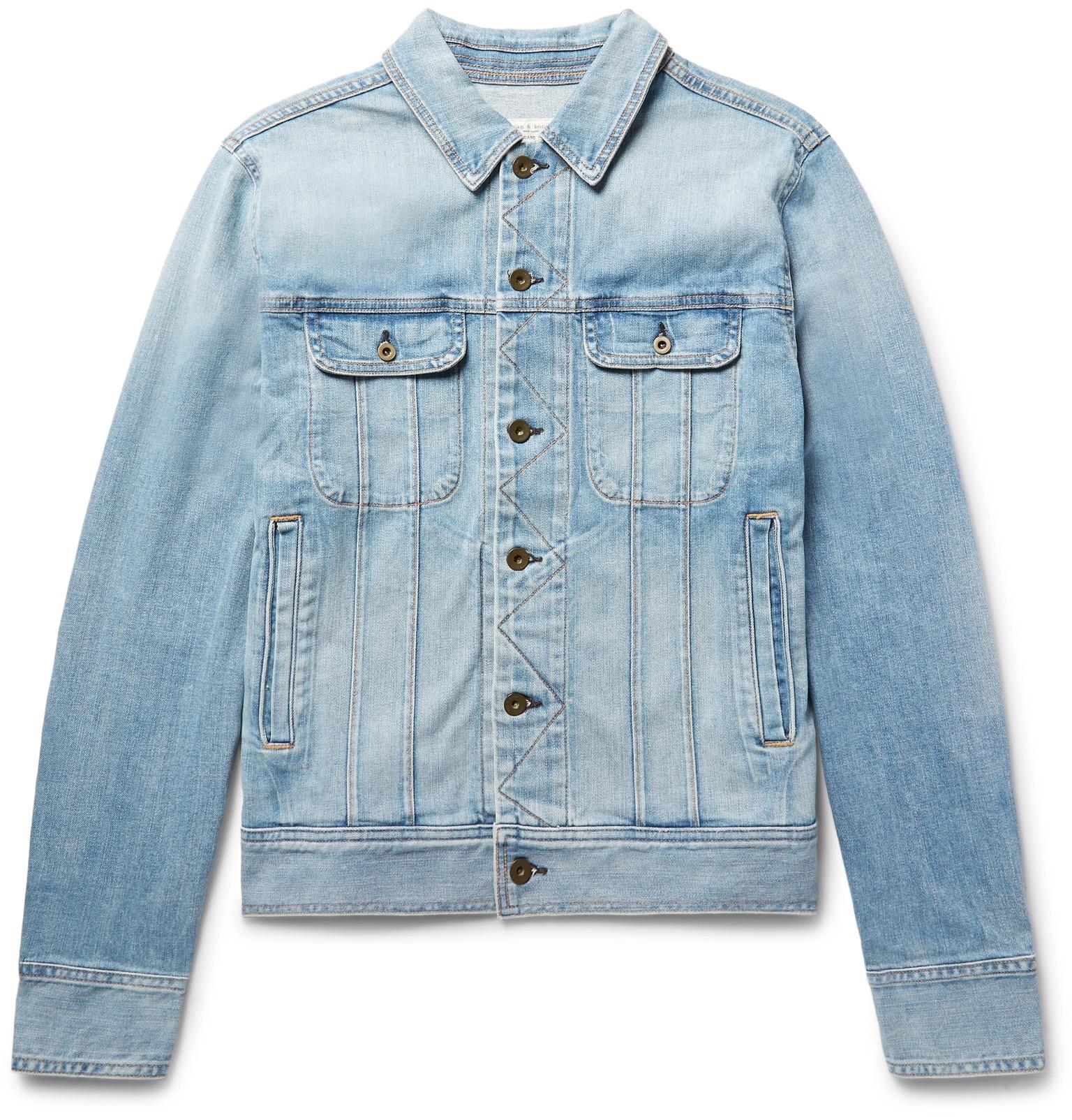 6bec81fc828 rag   bone - Faded Denim Jacket