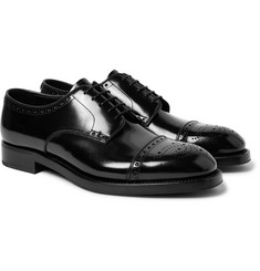 Prada - Cap-Toe Spazzolato Leather Brogues