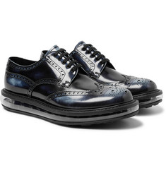 Prada - Levitate Burnished-Leather Wingtip Brogues