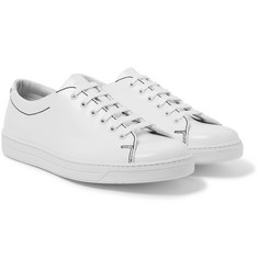 Prada - Contrast-Stitched Spazzolato Leather Sneakers