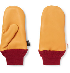Best Made Company Wool-Trimmed Leather Chopper Mittens