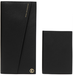 Kingsman + Smythson Panama Cross-Grain Leather Travel Wallet