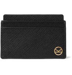 Kingsman - + Smythson Panama Cross-Grain Leather Cardholder