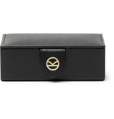 Kingsman - + Smythson Panama Cross-Grain Leather Cufflink Box