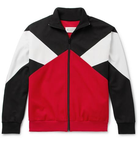 Colour Block Piqué Track Jacket by Maison Margiela