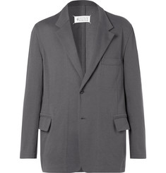 Maison Margiela Grey Oversized Reversible Cotton-Jersey Blazer