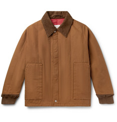 Maison Margiela Corduroy-Trimmed Cotton-Canvas Bomber Jacket