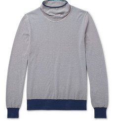 Maison Margiela - Striped Cotton-Jersey Rollneck Sweater
