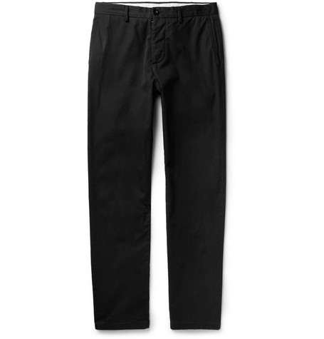 Slim-fit Cotton-twill Chinos - Black