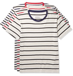 Maison Margiela Three-Pack Striped Cotton-Jersey T-Shirts