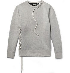 Craig Green Lace-Detailed Mélange Bonded-Jersey Sweatshirt